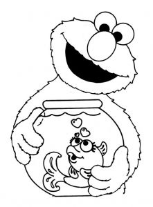 Coloring Page Sesame Street For Kids Elmo Coloring Pages Sesame Street Coloring Pages Birthday Coloring Pages