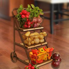 Found it at Wayfair - Farmhouse Table Top Produce Cart