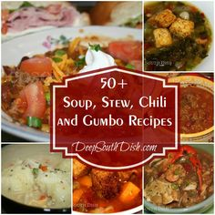 A collection of more than 50 Soup, Stew, Chili and Gumbo Recipes from Deep South Dish!