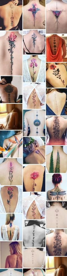 Spine Tattoo Enhances a Women's Back And Adds a Lot of Sex Appeal! It Looks Amazing!
