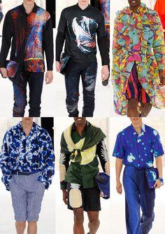 Paris Menswear Print Highlights – Spring/Summer 2015 catwalks Issey Miyake
