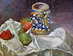 Paul Cezanne Still Life With Italian Earthenware Oil Painting Reproductions for sale Cezanne Art, Paul Cezanne Paintings, Paul Cézanne, Manet, Cezanne Still Life, Renoir, Still Life Artists, Henri Rousseau, Painting Still Life