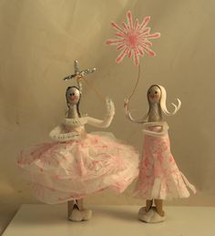 clothes pin dolls....to do as craft at Kate's fairy party