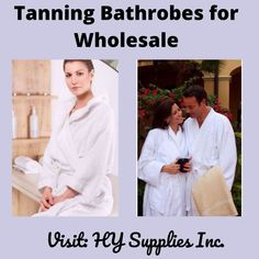Eager to Buy a White Bathrobes for Tanning Salons at HY Supplies Inc. #bathrobesformen #bathrobesforwomen #bathrobesforcouples #bathrobeonline #bathrobesbulk