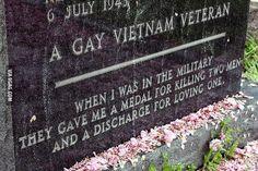 A Gay Vietnam Veteran's Tombstone. Powerful.