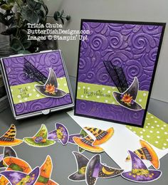 - Stampin' Up 2018 Holiday - halloween cards Samhain Halloween, Homemade Halloween, Halloween Cards, Holidays Halloween, Halloween Fun, Fall Cards, Holiday Cards, Halloween Paper Crafts, Halloween Scrapbook