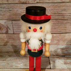 Vintage Wooden Nutcracker Vintage Christmas by VintageJunqueAmy