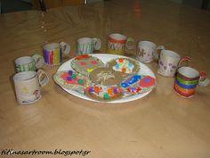 Titina's Art Room: Κούπες από ρολό χαρτί & μπισκότα από χαρτόκουτο!