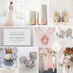 Rose Quartz & Concrete Wedding Inspiration | SouthBound Bride