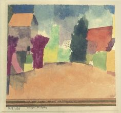 Paul Klee - Country house near Fribourg, 1915.