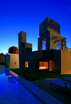 The Schnabel House by Frank Gehry.      oh, frank. incredible.