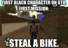 At this moment a Legend was born : GTA San Andreas Gta San Andreas Download, Black Characters, Most Popular Memes, Gaming Memes, Funny Games, You Funny, Getting Out, Best Funny Pictures, I Laughed