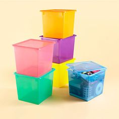 Shop Kidsu0027 Storage Containers Kids Colorful See-Through Stackable Box. When it comes to keeping kidsu0027 rooms neat and organized our stackable Top Box ... & 7 tips for decluttering kids rooms when all else has failed ...
