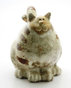 Gorgeous Ceramic Glazed Cat Moneybox Piggy Bank Great For Kids Savings Xmas Gift | eBay