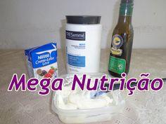 Mega Nutrição com Creme de Leite e azeite de Oliva cabelos Secos