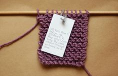 Free downloadable stitch markers with pattern on back.  Great idea - could make your own!