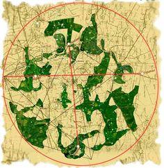 Map of Glastonbury Zodiac