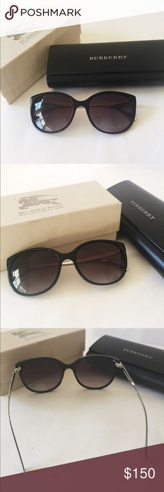 🆕NWOT  Burberry sunglasses with case and box New without tag. 100% authentic. Store Display. May have tried on. I never use or wear them (too small for me). Bought for my mom but she wants another brand.  No scratches. Come with the original leather case and box ( the box bit dirty though).  Retail: $295+tax.                                                                                       ❌ no trade ❌no lowballing offers!!! Burberry Accessories Sunglasses