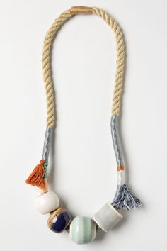 Peoria Ceramic Necklace // anthropology