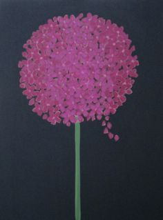 Hot Pink Hydrangea ( other colours, blue, purple, mauve, white) acrylic 18x24