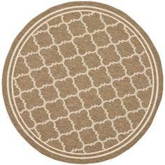 Safavieh Poolside Brown/ Bone Indoor Outdoor Rug (6'7 Round) - Overstock™ Shopping - Great Deals on Safavieh 7x9 - 10x14 Rugs