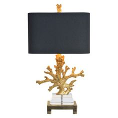 Gold Coral Table Lamp, $199, now featured on Fab.