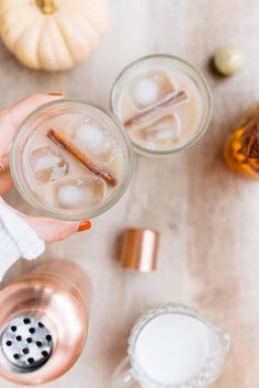 Favorite Festive Sip (this chai tea cocktail I saw on Glitter Guide)