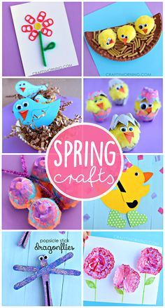 Beautiful Spring Crafts for Kids to Create (Find birds, flowers, butterflies, dragonflies, and more art projects!) | CraftyMorning.com