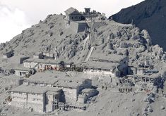 Desperate rescue: Mount Ontake erupted shortly before noon on Saturday, spewing large whit...