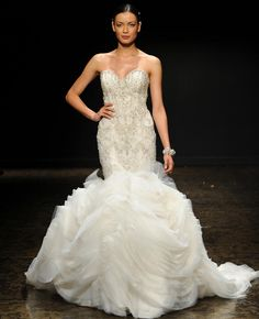 """Lazaro Fall 2014 Wedding Dresses 