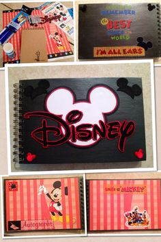Homemade Disneyland Autograph Book. Easy Peasy. $4 sketch book from Barnes and Nobles. Paint the cover (I used a gunmetal metallic grey) Place stickers of choice. For inside cover, cut out scrap booking paper of choice and glue on. Once at Disneyland, have characters sign on one side, and glue on a picture of your child and the character on the other side.