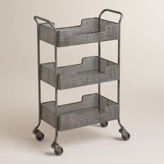 """Zinc Yvette Metal Circle Cart 