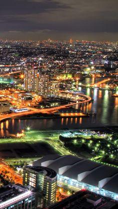 Yokohama Night View , Kanagawa Prefecture, Japan