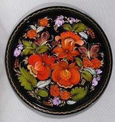Тарелка, подлаковая роспись, автор**Наталия Кулиш