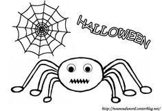 Coloriage araignée d'Halloween