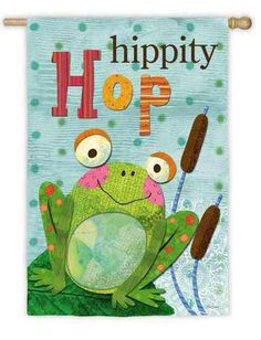 Hipity Hop Frog Suede Reflections House Flag