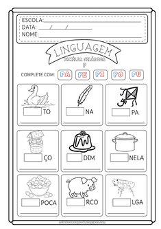 Portuguese Lessons, First Grade, Kindergarten, Bullet Journal, France, Letter G Activities, Preschool Literacy Activities, Abc Centers, Reading Activities