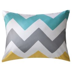 Room Essentials® Chevron Sham - White, $9.99 at Target; search sales and mix and match bedding