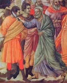 Duccio di Buoninsegna - Maestà - Retro - Cattura di Cristo, dettaglio - 1308-11 - Tempera e oro su tavola - Museo dell'Opera del Duomo, Siena