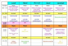Emplois du temps - Véro à l'école Periodic Table, Recherche Google, School Days, Elementary Schools, Classroom Management, Professor, Reading, Jobs In, Billboard