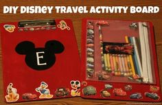 Make special activity clipboards for the car ride. | 36 DIYs That Will Get The Whole Family Psyched For A Disney Vacation