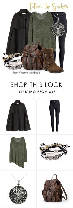 """Follow the Spiders"" by evalupin ❤ liked on Polyvore featuring H&M, Robert Lee Morris, Carolina Glamour Collection, Frye, Alberto Fermani, Halloween, harrypotter, RonWeasley and ForbiddenForest"