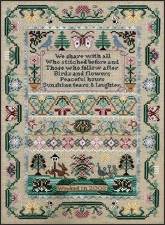 Common Ground is the title of this cross stitch pattern from Just Nan that also includes designs for the accessories shown in the second pho...