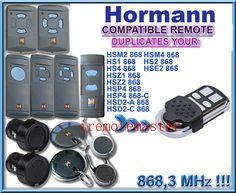 4 channel Hormann 868 mhz garage gate opener Compatible with Hormann door remote control command Garage Gate, Garage Door Springs, Universal Remote Control, Garage Door Opener, 4 Channel, Access Control, Garage Design, Garages, Coding