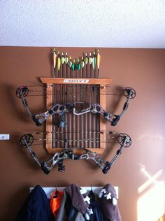 Custom Double Bow And Arrow Rack