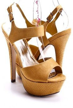 Mustard Heels - only $7.99 and lots of sizes left!