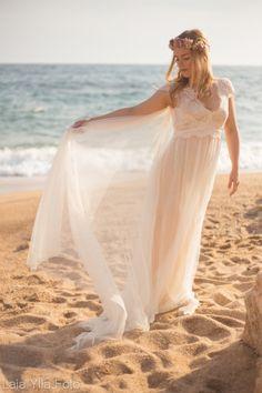 Shooting de vestidos de novia realizado en la playa