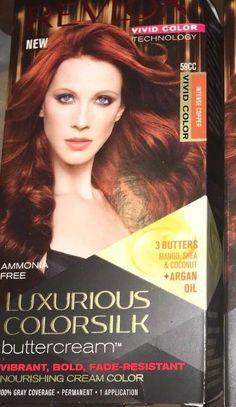 Revlon Colorsilk Intense Copper Hair Color Buttercream for sale online Hair Dye Colors, Hair Color, Copper Hair Dye, Revlon Colorsilk, Dyed Hair, Vivid Colors, Luxury, America, Ebay