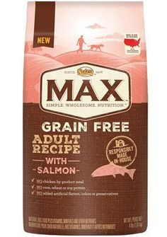 Nutro Max Grain Free Adult Recipe with Salmon 4 lb * Click image for more details. (This is an affiliate link) #MyPet
