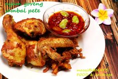HOME COOKING : AYAM GORENG SAMBAL PETE AYAM GORENG SAMBAL PETE a'la masyith@MAY'S FOOD & beverage Eat And Go, Chicken Wings, Foods, Meat, Cooking, Home, Food Food, Beef, Kochen